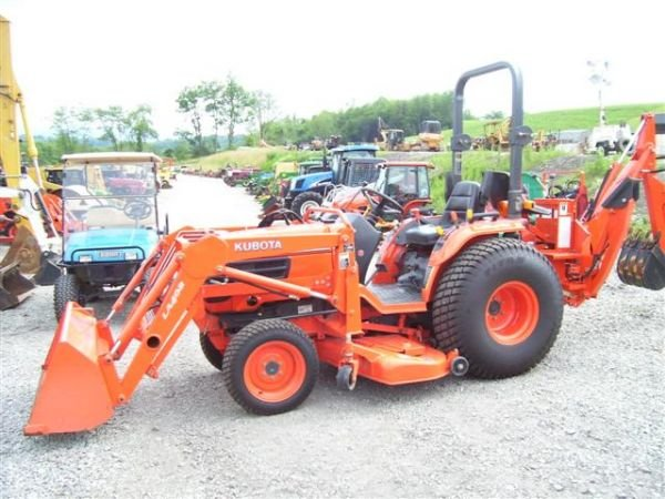 Kubota Belly Mower Decks : Kubota b wd tractor w ldr backhoe mower deck