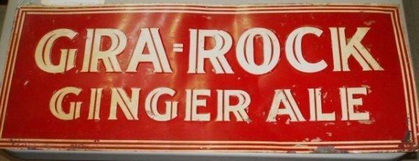 95 tin sign gra rock ginger ale 11 x 27 5 lot 95. Black Bedroom Furniture Sets. Home Design Ideas
