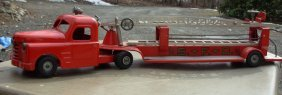 Structo Aerial Fire Ladder Tractor Trailer 33 1/2 L
