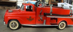 Tonka Fire Pumper 1961 & Buddy L Texaco Pumper