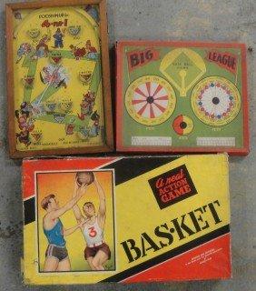 Five Old Games Including Big League Baseball, Poosh-