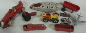 Lot Of Misc. Toys In Rough Including Marx Race Car,