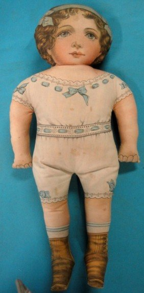 Cloth Doll Of Young Girl - Probably Early 20th C.