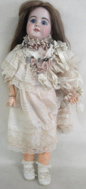 German Doll Signed 1894 A.M. II Dep Made In German
