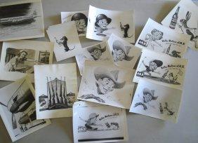 Lot Of 24 Photos Of Ken Fagg's Artwork Including 1