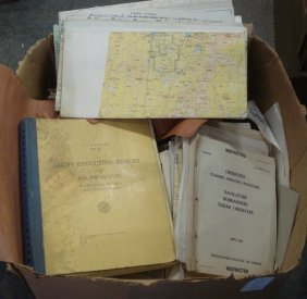 Large Collection Of Airplane Training Papers And M