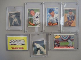 Seven Old Baseball Cards - Hit Parade, Etc.