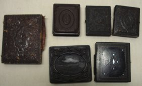 Six Cased Images Including 1 Daguerreotype Of Lady