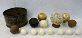 Collection Of 14 Architectural Ball Shaped Artifacts