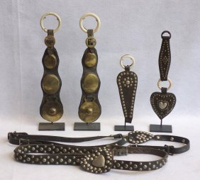 Grouping Of 6 Martingales And Martingale Pendants. Two