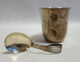 Two Pieces Of Georg Jensen Sterling Silver Including A