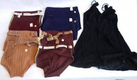 Grouping Of Vintage Swim Suits Including 8 New Men's