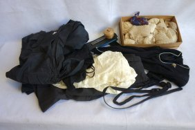 Grouping Of Lady's Articles Including Lace Tatting,