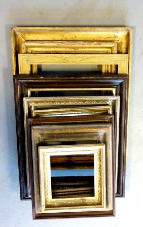 """Grouping Of 9 Assorted Frames Ranging In Size From 12""""h"""