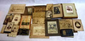 Grouping Of Old Photos & Autograph Albums, Most Local