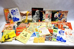 Grouping Of Circus Related Paper And Photos Including A