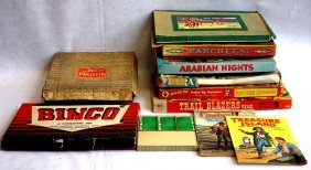Grouping Of 10 Old Games Including Pirate And Traveler