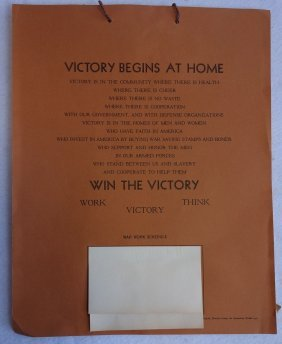 The 1943 Poughkeepsie Ny Victory Calendar From 1943.