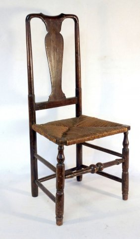 Queen Anne Side Chair In Good Condition.