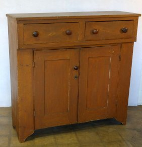 Early Jelly Cupboard Having 2 Drawers Over 2 Doors In