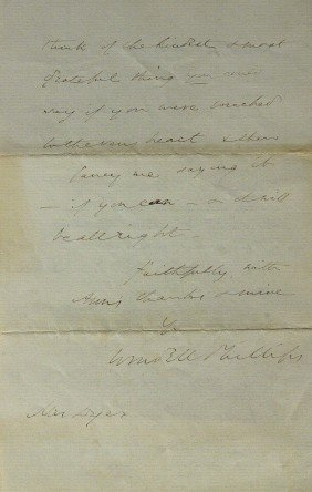 Abolitionst WENDELL PHILLIPS-Autograph Ltr Signed