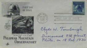 Pulto Discoverer CLYDE TOMBAUGH - Postal Cover