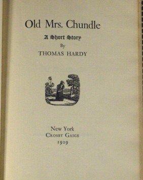 (THOMAS HARDY) - Ltd Edition Book 1929