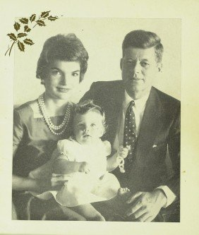 JFK And JACKIE - Unsigned 1958 Xmas Card