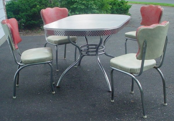 1950's chrome table and chairs 1