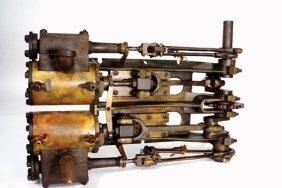 A BRONZE FRAME STEAM VEHICLE ENGINE