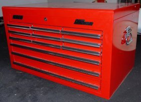 520 Mac Tools Tool Box Red 12 Drawer Lot 520