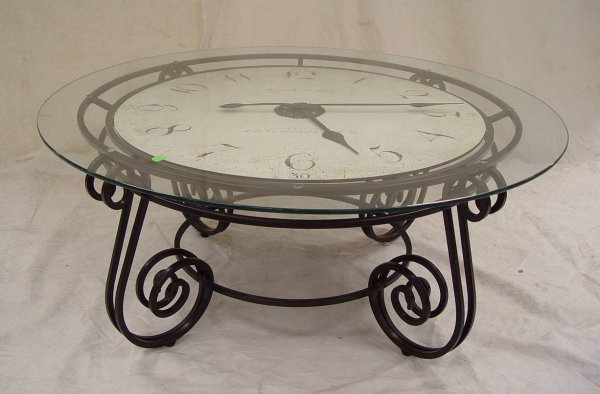 89 howard miller coffee table clock 17 tall 40 acros lot 89 Coffee table with clock