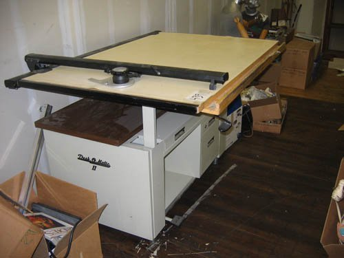 1216439 Mayline Desk O Matic Drafting Table Lot 1216439