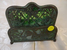 "12210027C: TIFFANY STUDIOS ""GRAPEVINE"" LETTER HOLDER"