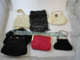 12210050W: LOT OF BEADED VICTORIAN PURSES