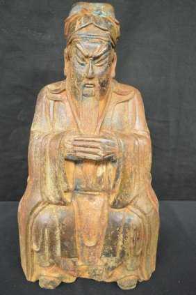 "16"" Bronze Painted Immortal Figure"