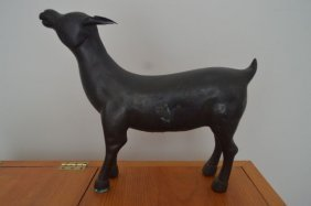 Large Chinese Bronze Of A Goat, Circa 1900's
