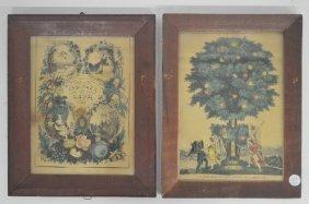 2 Kellog & Thayer 19th Century Prints, 'tableau Of