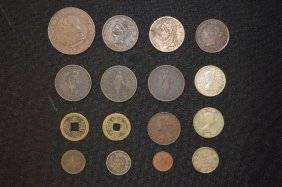 Grouping Of American And Foreign Coins; Includes 3