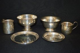 6 Pieces Sterling Silver Holloware