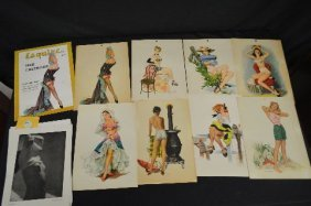 1948 Esquire Pinup Calendar (8 Months) And Loose Pinup