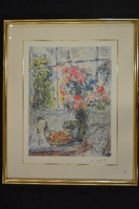 Numbered And Signed Marc Chagall Print 488/500
