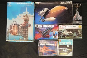 7 Space Related Unmade Vintage Models
