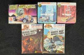 5 Vintage Unnmade Monster Models