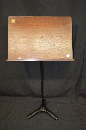 Vintage 1920's Hamilton Mahogany Music Stand With Cast