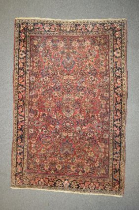 "Antique Heriz Persian Rug 75""x49"""