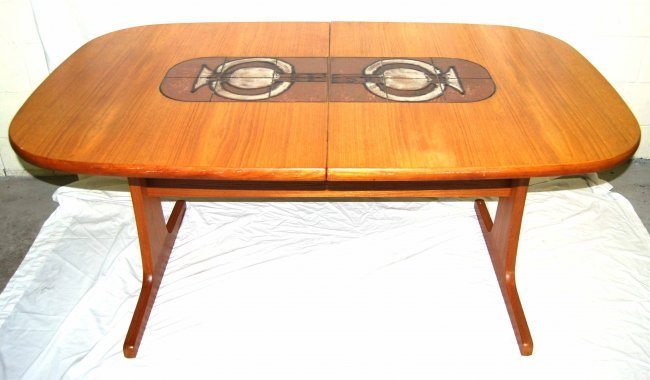 Vintage Gangso Mobler Mid-Century Modern Dining Table w : Lot 8