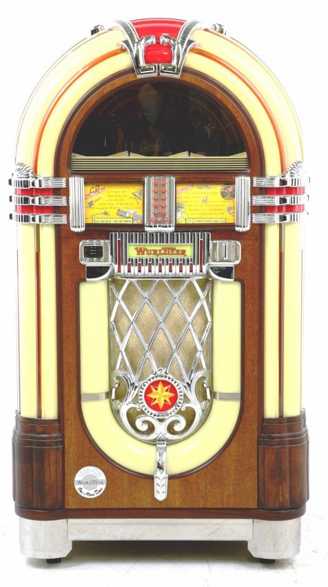 nostalgic wurlitzer 1015 cd jukebox bubbler cd player. Black Bedroom Furniture Sets. Home Design Ideas