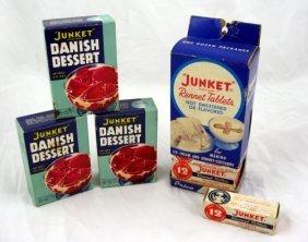 Vintage Nos Boxes Junket Dessert & Display
