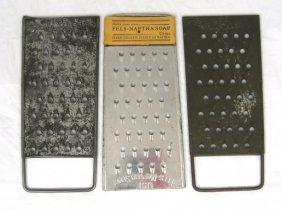 3 Vintage Nos Fels Naptha Soap Graters
